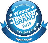 Winner Trusted Brand 2018 Reader's Digest Sunscreen